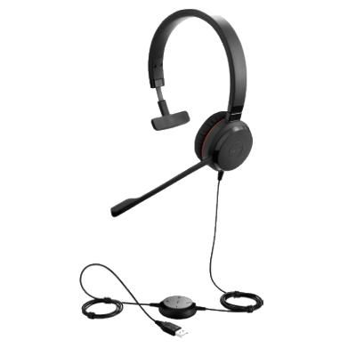 Jabra Evolve 30 Mono UC, corded headset