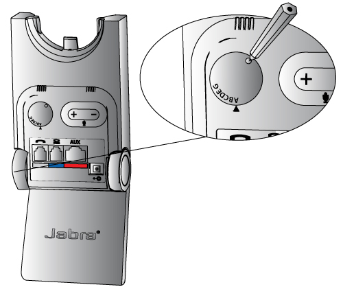 Jabra PRO 900 Adjusting Dial Tone Switch - NRG TeleResources