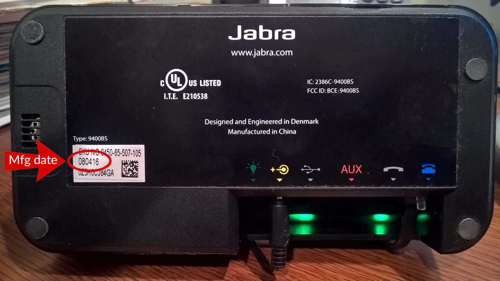 Jabra Pro 9450 Manufacture Date Location Nrg Teleresources