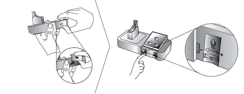 Adjusting The Microphone Volume On The Jabra Pro 9450 Wireless Headset Nrg Teleresources