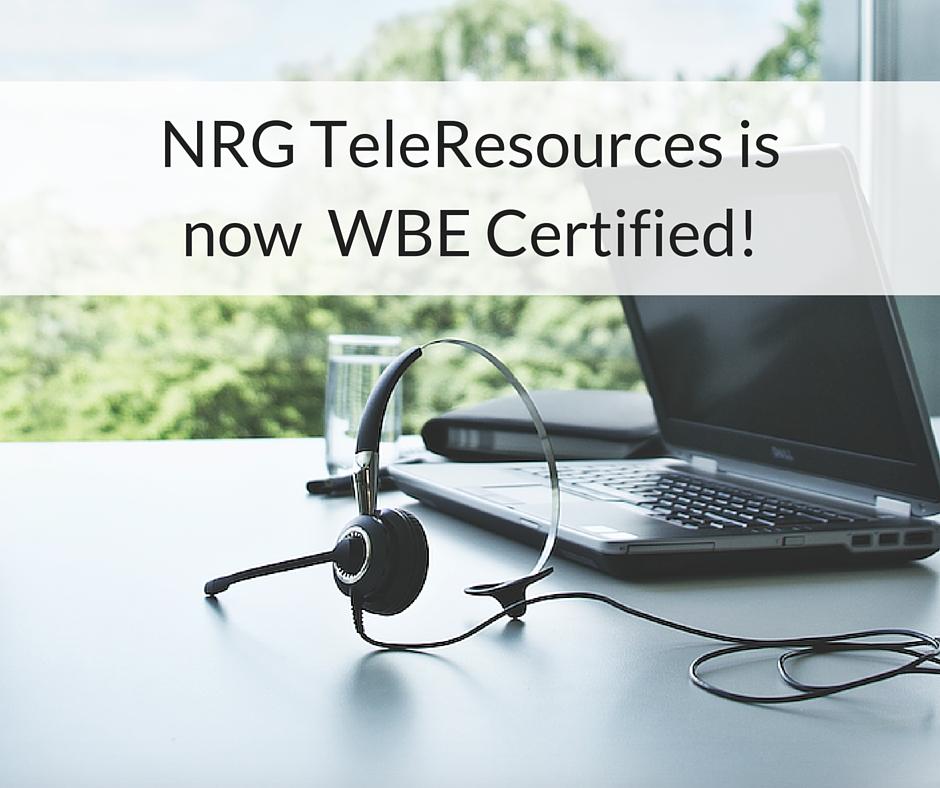 Wbe Certification Nrg Teleresources