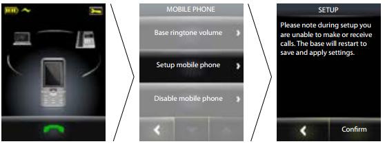 mobile phone setup