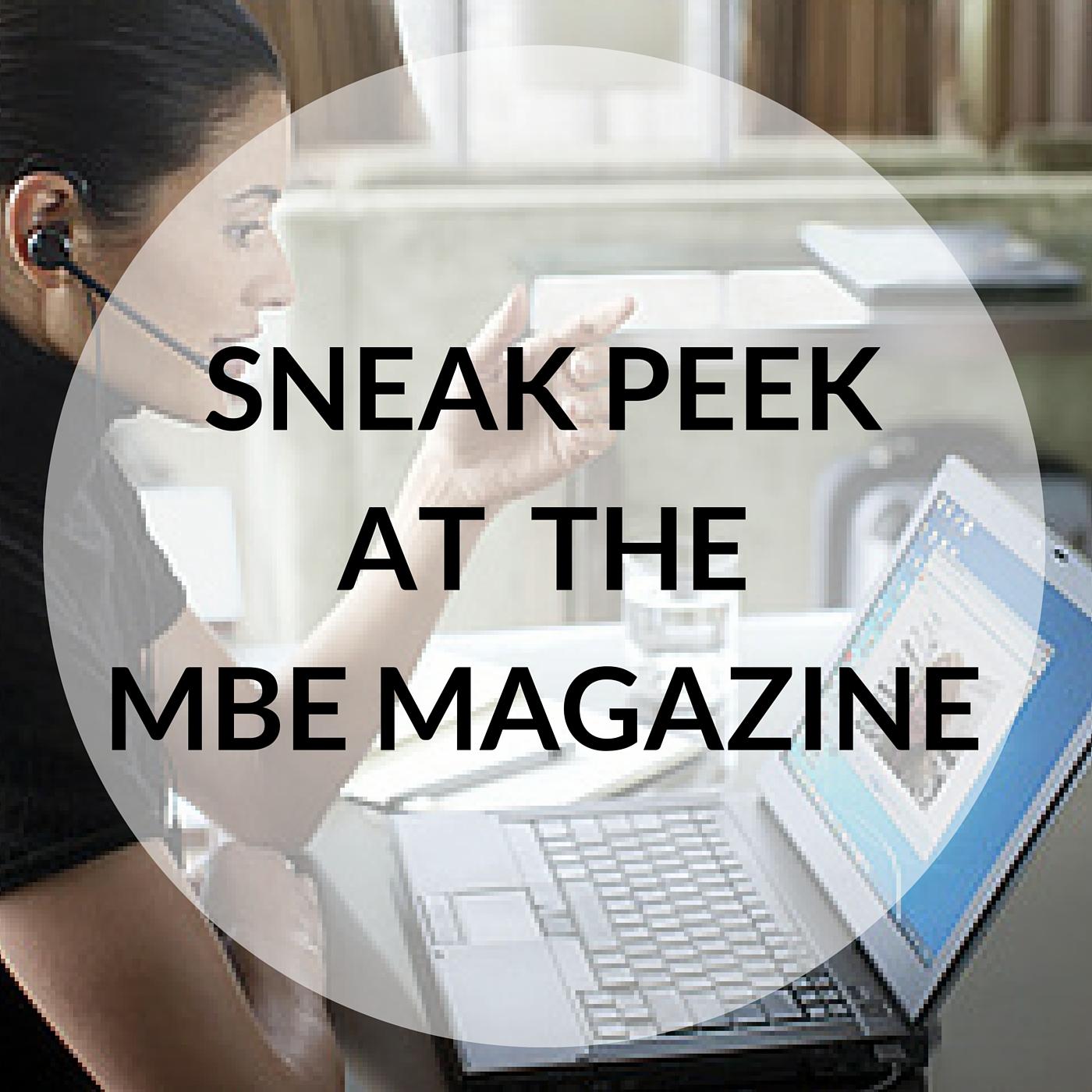 Sneak Peek MBE magazine, Minority Business Entrepreneur, Lisa Siragusa Interview, WBE Canada, Breakfast with Brands